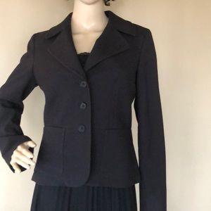 Talbots 3-button black jacket